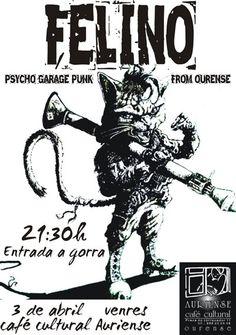 Felino en Café Cultural Auriense, Ourense concerto concierto music música