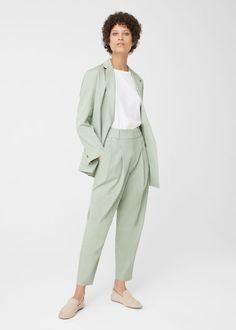 Pantalon de costume ramie