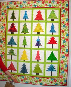 "Terri Wangstrom from Anchorage, Alaska... Thank you for sharing your version of ""Spring into Christmas"" from Happy Stash Quilts."