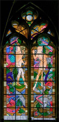 亞當和夏娃:讓 - 米歇爾·Alberola - 多米尼克Duchemin(主玻璃藝術家)