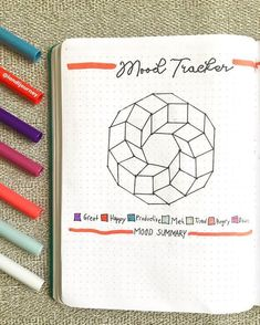 Bullet journal monthly mood tracker. | @landljourney