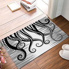 Libaoge Kraken Ocean Theme Giant Octopus Tentacles Mythical Nautical Sea Monster Marine Life Illustration Doormat Welcome Mat Entrance Mat Indoor/Outdoor Door Mats Floor Mat Bath Mat * You can find out more details at the link of the image. (This is an affiliate link) #entrancemats Entrance Mats, Octopus Tentacles, Door Mats, Ocean Themes, Sea Monsters, Welcome Mats, Kraken, Marine Life, Bath Mat