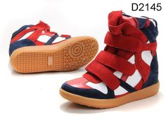 Isabel Marant High Top Sneakers Red White Black $189.00