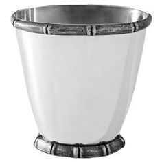 Eichholtz Haiti Global Bazaar Antique Silver Plated Ice Bucket Wine Cooler | Kathy Kuo Home