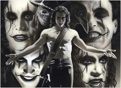 The Crow - brandon lee last movie Arte Horror, Horror Art, Horror Movies, Brandon Lee, Crow Movie, Bruce Lee Family, The Crow, Crow Art, Crows Ravens