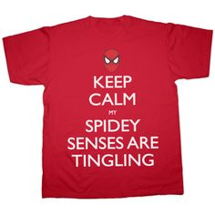 Spiderman Keep Calm My Spidey Senses Are Tingling T-Shirt All Sizes ($23) ❤ liked on Polyvore featuring tops, t-shirts, shirts, grey, women's clothing, checked shirt, unisex t shirts, print shirts, pattern shirts and grey shirt