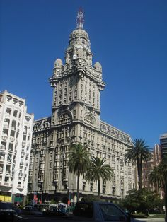 Palacio Salvo located in Montevideo, Uruguay. Built originally in the late 1920's. It is the tallest building in South America