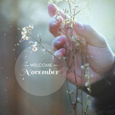 Welcoming November! Birthday month. 11/23 baby!
