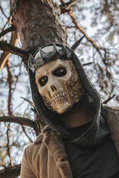 THE KING Resin Full-Face Skull Mask