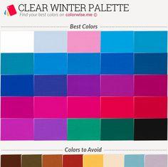 Clear Winter Palette