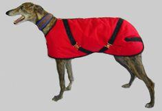 Red/Black Greyhound Nylon Turnout Coat $96.95