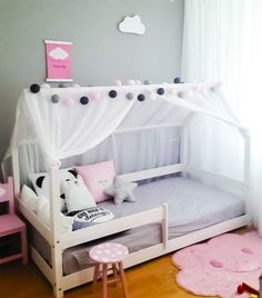Grey and pink toddler room, sweet & simple - Nursery & Kid Decor - Kinderzimmer Baby Bedroom, Girls Bedroom, Bedroom Decor, Girl Nursery, Modern Kids Bedroom, Nursery Room, Nursery Decor, Master Bedroom, Teenage Girl Bedrooms
