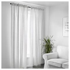 VILBORG Curtains 1 Pair Light Gray