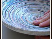 Recycle magazine bowl