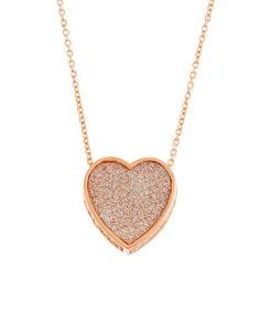 Look at this Rose Goldtone Glitter Heart Pendant Necklace on #zulily today!