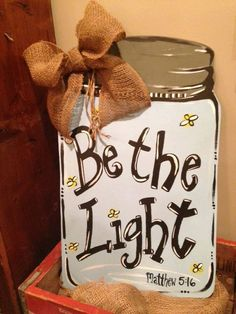 Mason Jar Wooden Door Hanger by SouthernNestings on Etsy