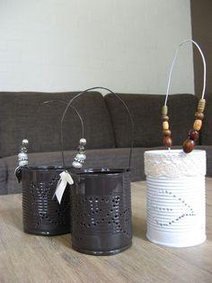 Tin can crafting, made them myself!