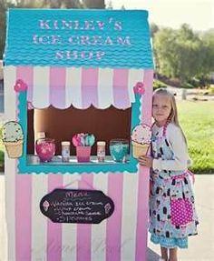 DIY ice cream stand