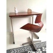 Vintage bureautje met stoeltje