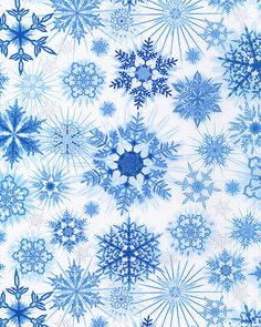 Shimmering Snowflakes - Ice/Silver  #quilting, #fabric, #design