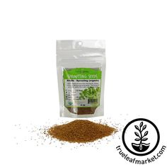Alfalfa Sprouts Seeds - 4 Oz Alfalfa Seed, Alfalfa Sprouts, Garden Mulch, Sprouting Seeds, Folic Acid, Organic, Diet, Healthy, Holiday Gifts