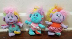 "Vtg 1989 Playskool Hobnobbins Cousin Flashy-Uncle Adventure-Angel Troll 8"" Plush #Playskool"
