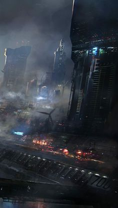 Walhallennebel: Foto - SciFi Fantastic Worlds - Art Ville Cyberpunk, Cyberpunk City, Arte Cyberpunk, Futuristic City, Games Design, Fantasy World, Fantasy Art, Space Opera, Arte Sci Fi