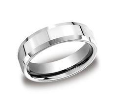 806d05fcdd34d6 7mm Comfort fit high polished carved Design Wedding Band In Cobaltchrome  CF67426CC-IBMD