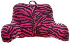 Brentwood Originals Zebra Fur Bedrest, Hot Pink