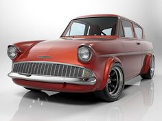 Studio shot of Ford Anglia Retro Cars, Vintage Cars, Antique Cars, Ford Motor Company, Ford Anglia, Rockabilly Cars, Ford Classic Cars, American Motors, Old Fords