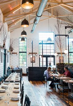 """In Nashville, Germantown especially compelling. """"There are restaurants and shops that could stand up to those in any other city,"""" she says. One the popular eateries is Butchertown Hall."""