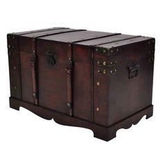 Vintage Wooden Storage Chest Table