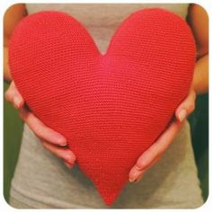 Corazón grande de ganchillo Crochet Almohadones f6257cdf0f5
