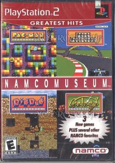 Namco Museum Sony PlayStation 2 Rated E for Everyone in Game Case with Game Disc and Booklet by Mass Media Inc. & Namco/Namco Bandai Games & Bandai Namco Games 2001 http://www.amazon.com/dp/B00005RCQY/ref=cm_sw_r_pi_dp_ngL2ub1BCTQ24
