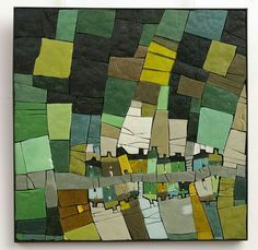 Michelle Combeau, untitled, 2011 ~ molten glass mosaic This is a landscape from the sky, interpreted geometrically. Mosaic Art, Mosaic Glass, Glass Art, Art Mural, Map Art, Map Quilt, Art Carte, Mosaic Pieces, Mosaic Madness