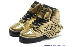 Adidas X Jeremy Scott Wings Chaussures Or Sortie