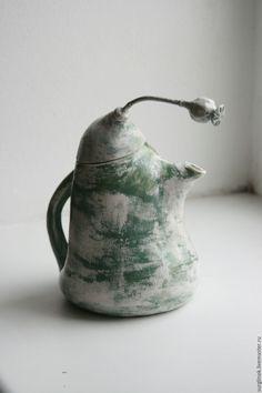 Купить Чайник - морская волна, чайник ручной работы, чайник заварочный, керамика ручной работы