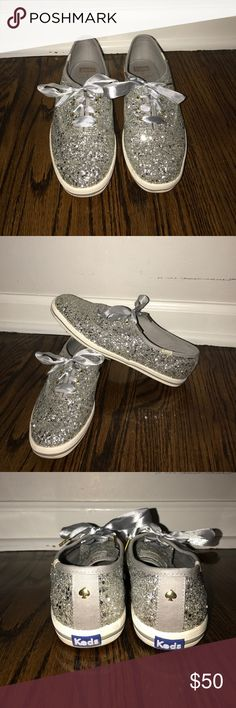 Kate Spade Keds Silver & Sparkly kate spade Shoes Sneakers