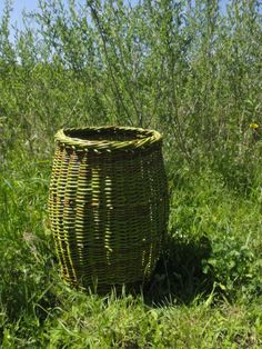 A barrel-shaped willow basket I made in the Spring of 2014.