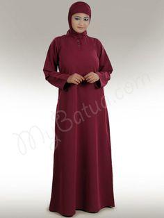 Anjum  Abaya!   Style No: Ay-311   Shopping Link :  http://www.mybatua.com/anjum-abaya Available Sizes XS to 7XL (size chart: http://www.mybatua.com/size-chart/#ABAYA/JILBAB)   Beautiful dual color Abaya with off white inner inside Band collar neckline. Lovely embroidery in front Churidar sleeves