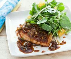 Maple n Ginger glazed salmon