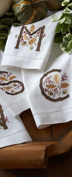 Ana Rosa - Fall Initial Guest Towels