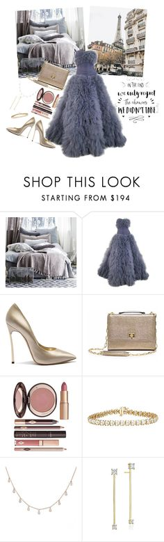 """""""In the end we only regret the chances we didn't take"""" by jeanine65 ❤ liked on Polyvore featuring Marchesa, Casadei, Charlotte Tilbury, Luna Skye and Mimi So"""