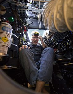 Diving to the deepest point in the Mariana Trench is something like riding a cramped elevator that starts in a steamy tropical forest and ends in the dead of night at the North Pole.  Congrats to James Cameron :) Just amazing.