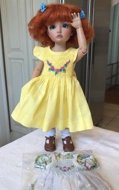Iplehouse BID Elin Doll Custom Faceup Boneka Outfits Mohair Wig #Boneka