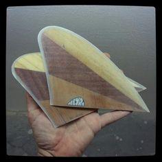 Wood keel surfboard fin. Glass on. 100% handmade by Neyrafins.