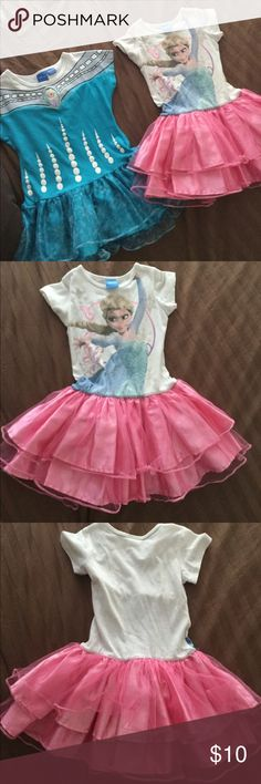 Elsa frozen dresses My daughter loved these frozen dresses with shorts or leggings!!! Nothing wrong , simple out grew them Size 4/5 Dresses Casual