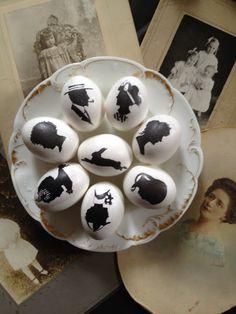 Easy Silhouette Easter Eggs / http://www.rookno17.com/2012/03/easy-silhouette-easter-eggs.html