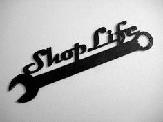 Items similar to SALE! Shop Life Wall Garage Plaque in Steel Handmade Custom Metal Art Plasma Cut on Etsy Cnc Plasma, Plasma Cutting, Plasma Table, Metal Tree Wall Art, Metal Artwork, Custom Metal Art, 3d Cnc, Shops, Retro Gifts