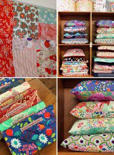 pretty colourful cushions